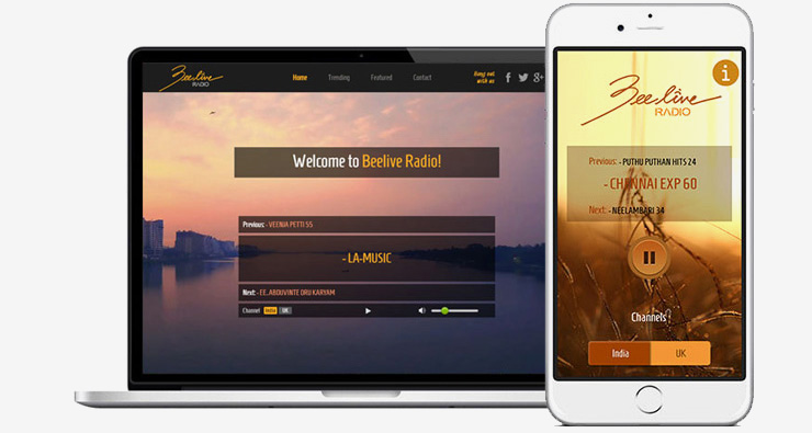 Online Radio Station Web Site and Mobile App Development