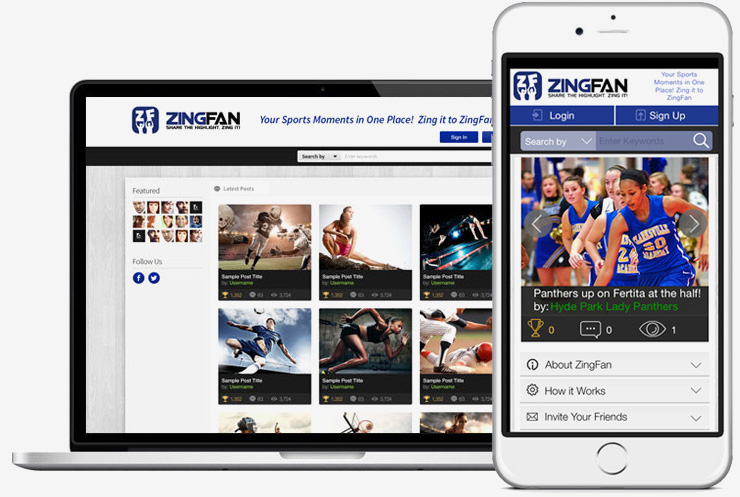 Sports social networking site mobile app development
